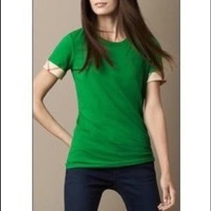 Authentic Burberry Cotton tee in green